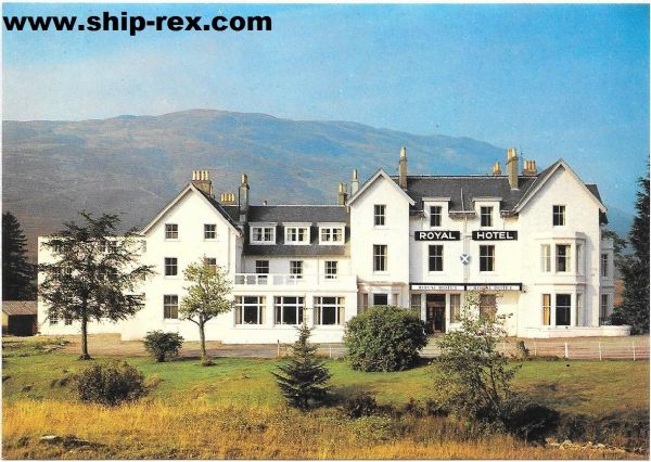 Tyndrum, The Royal Hotel - postcard